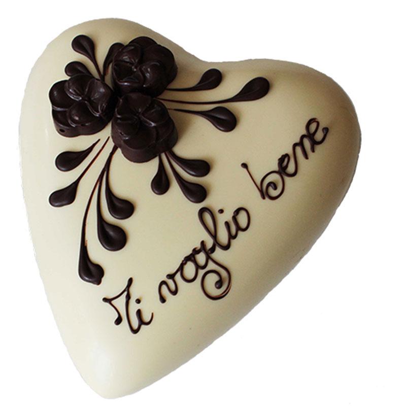 Cuore di cioccolato Bianco