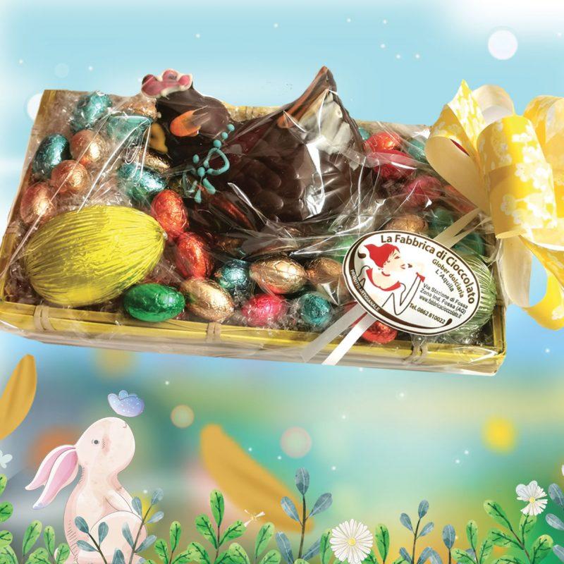 Cestino con Gallinella e ovetti di cioccolato